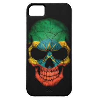 Ethiopian Flag Skull on Black iPhone SE/5/5s Case