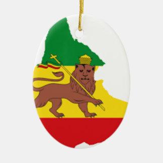 Ethiopian flags pr line 👍😂😂👌 ceramic ornament