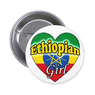 Ethiopian Girl Buttons