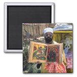 Ethiopian Gospels 2 Inch Square Magnet
