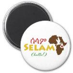 """Ethiopian """"Hello"""" Magnet"""