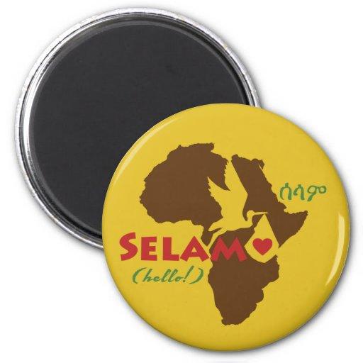 Ethiopian Hello! Magnet