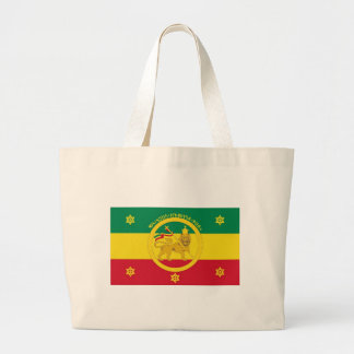 Ethiopian Imperial Flag - Haile Selassie I Reign Large Tote Bag