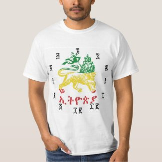 Ethiopian Lion - Time Clock T-Shirt