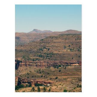 Ethiopian Mountain Range Postcard