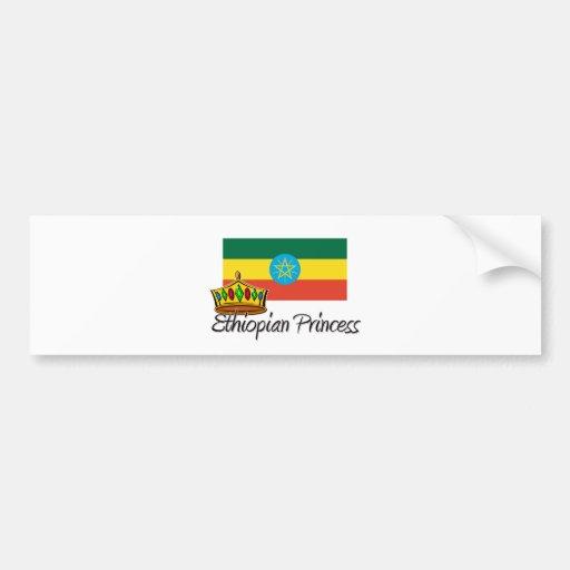 Ethiopian Princess Car Bumper Sticker