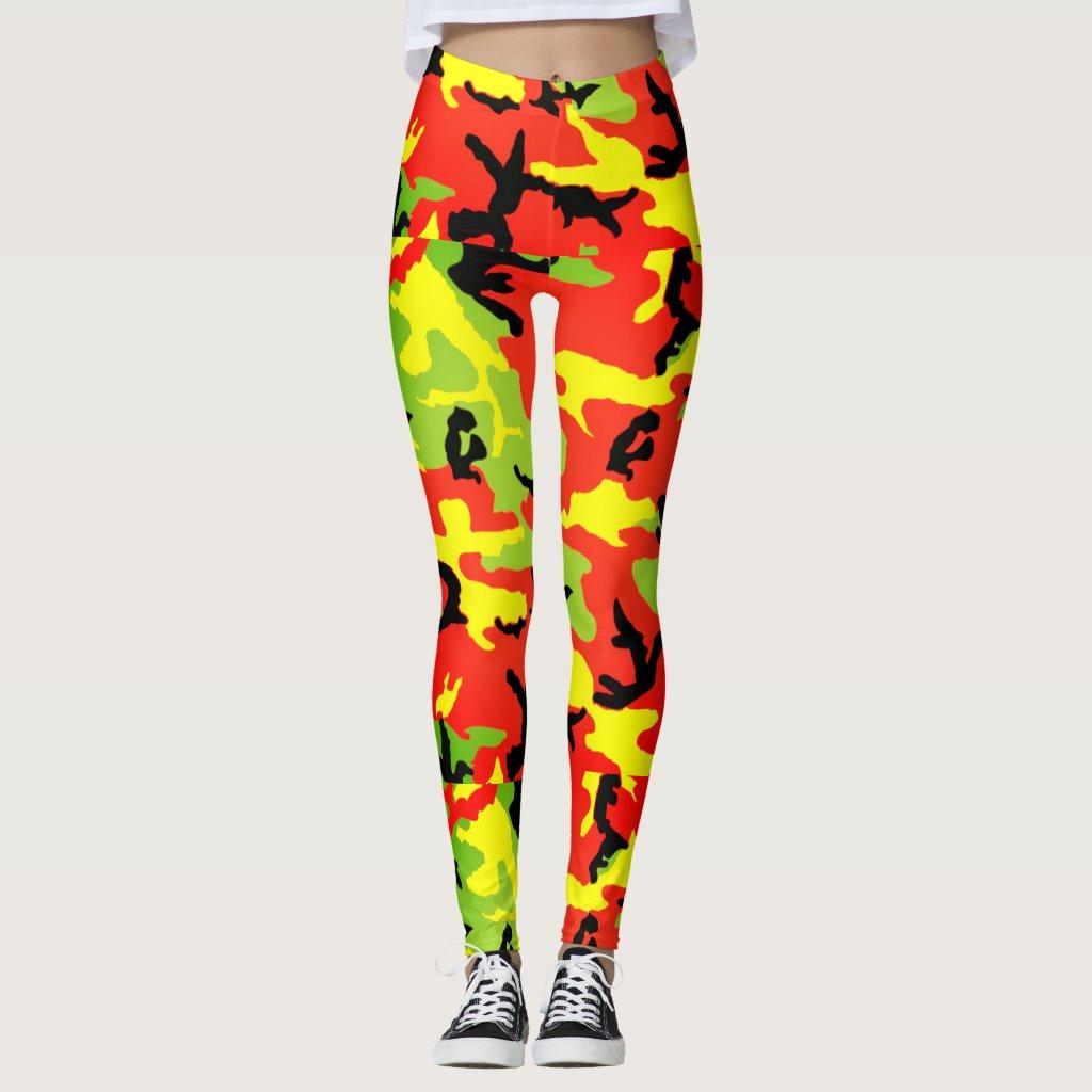 Ethiopian Rastafari Camouflage - Leggings