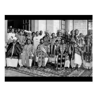 Ethiopian Royalty 1920's - 1930 Postcard