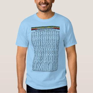 Ethiopian World Federation Amharic Alphabet Chart T Shirt