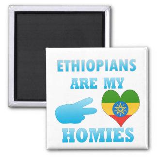 Ethiopians are my Homies 2 Inch Square Magnet