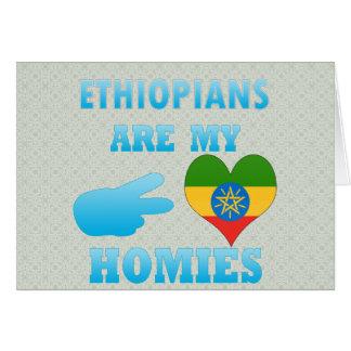 Ethiopians es mi Homies Tarjeta De Felicitación