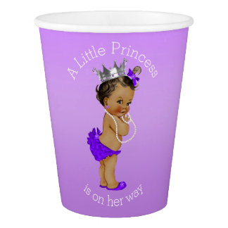 Ethnic A Little Princess is On Her Way Paper Cup