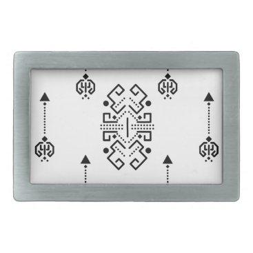 Aztec Themed Ethnic abstract design belt buckle