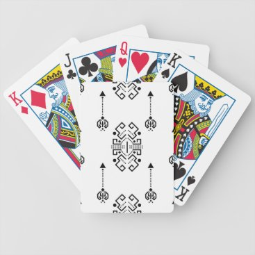 Aztec Themed Ethnic abstract design bicycle playing cards