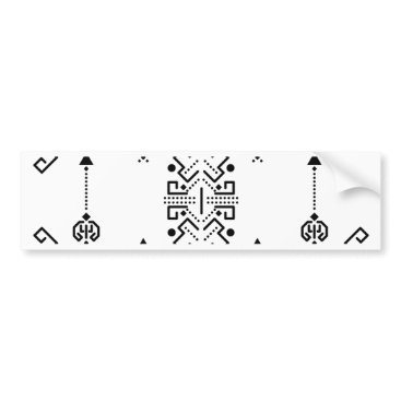 Aztec Themed Ethnic abstract design bumper sticker