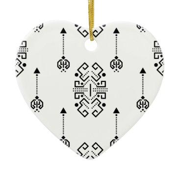 Aztec Themed Ethnic abstract design ceramic ornament