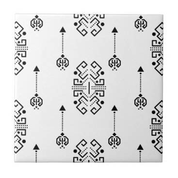 Aztec Themed Ethnic abstract design ceramic tile