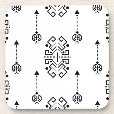 Aztec Themed Ethnic abstract design coaster