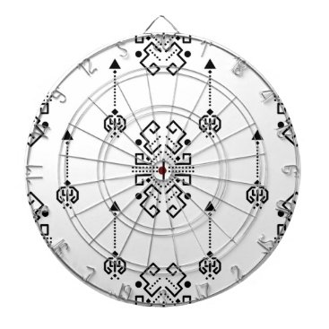 Aztec Themed Ethnic abstract design dart board