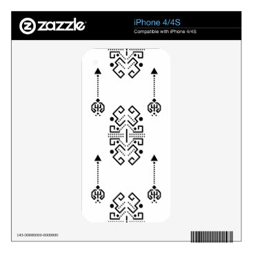 Aztec Themed Ethnic abstract design decal for the iPhone 4S
