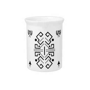 Aztec Themed Ethnic abstract design drink pitcher
