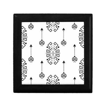 Aztec Themed Ethnic abstract design keepsake box