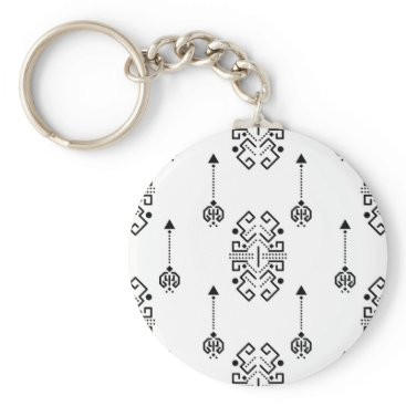 Aztec Themed Ethnic abstract design keychain
