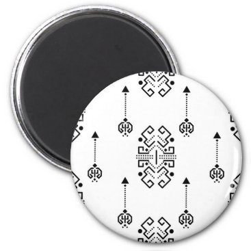 Aztec Themed Ethnic abstract design magnet
