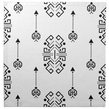 Aztec Themed Ethnic abstract design napkin