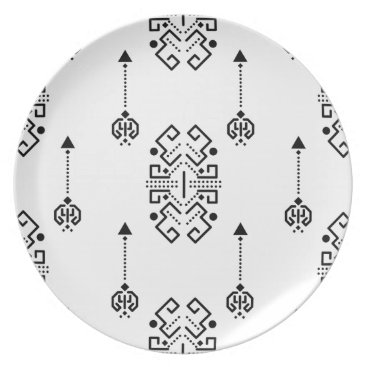 Aztec Themed Ethnic abstract design plate