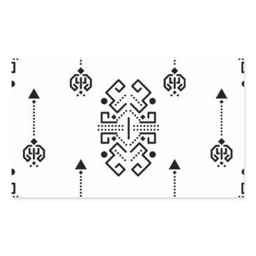 Aztec Themed Ethnic abstract design rectangular sticker