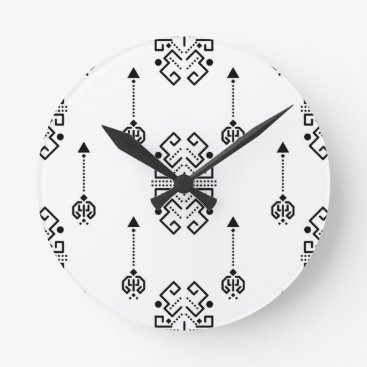 Aztec Themed Ethnic abstract design round clock