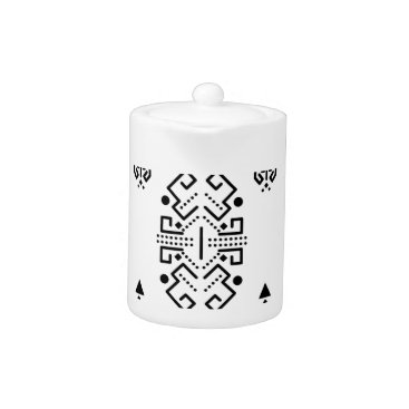 Aztec Themed Ethnic abstract design teapot