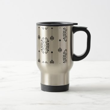 Aztec Themed Ethnic abstract design travel mug