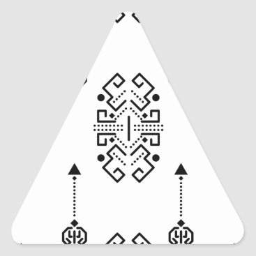 Aztec Themed Ethnic abstract design triangle sticker