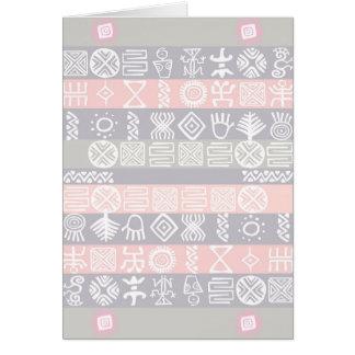 Ethnic African Boho Design Card