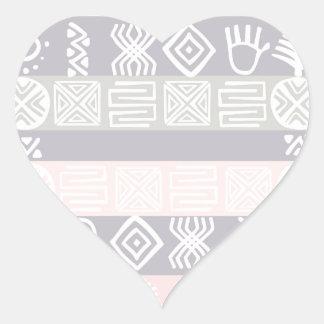 Ethnic African Boho Design Heart Sticker