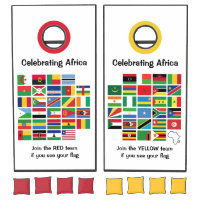 Ethnic African FLAGS OF AFRICA Customizable Cornhole Set