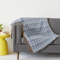 ethnic African hand-drawn pattern throw