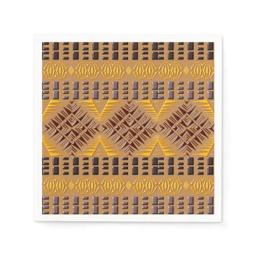 Aztec Themed ethnic african tribal geometric pattern paper napkin