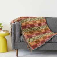 ethnic african tribal striped pattern. throw blanket