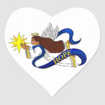 "Ethnic ""Angel of""Hope"" Heart Stickers"