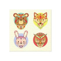 ethnic animals canvas print