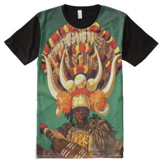 Ethnic art .Africa All-Over Print T-shirt