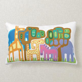 Ethnic art African animals Throw Pillow