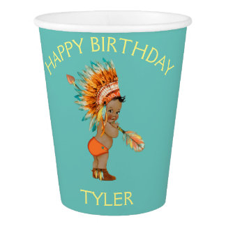 Ethnic Baby Boy Native Tribal Headdress Paper Cup