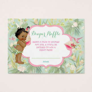Ethnic Baby Girl Tropical Luau Hawaiian Business Card