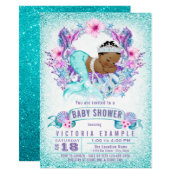 Ethnic Baby Mermaid Baby Shower Invitation