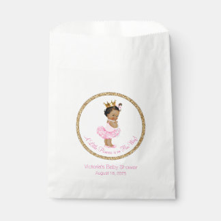 Ethnic Ballerina Princess Baby Shower Favor Bag