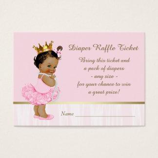 Ethnic Ballerina Princess Diaper Raffle Ticket